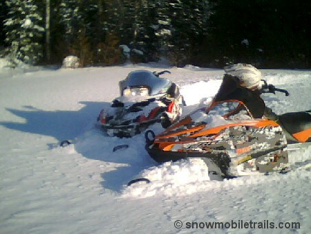 Devil Track Lake Grand Marais Snowmobiling