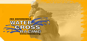 Snowmobile Water Cross Racing