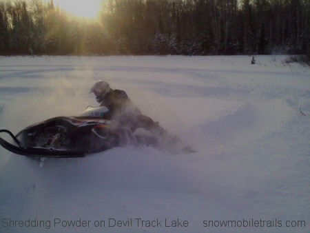Shredding Powder Devil Track Lake Grand Marais Minnesota